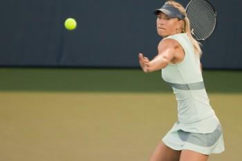 Sharapova jugando al tenis